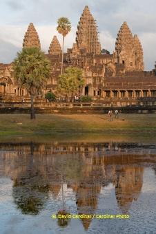 Towers of Angkor Wat at Sunset
