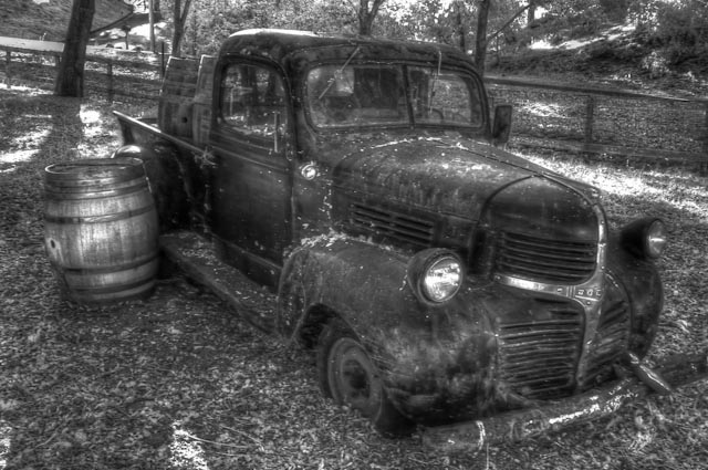 Antique truck from local vineyard